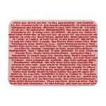 100 Ways To Say I Love you Rectangle Magnet