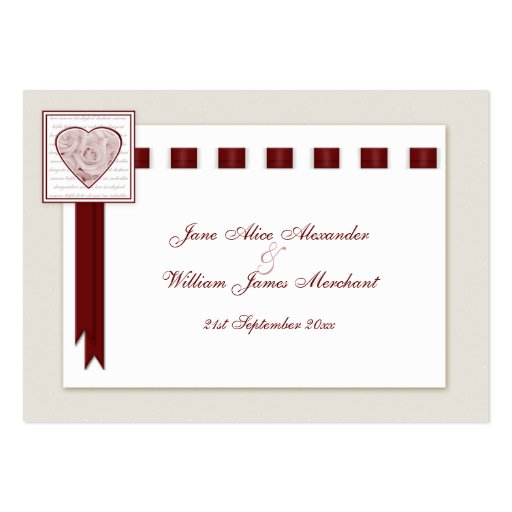 100 Wedding Guest Book Cards Love Heart & Roses