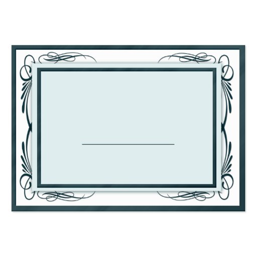 100 Wedding Placecards / Table Number Blue & White Business Card