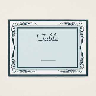 100 Wedding Table Number Cards Blues and White
