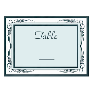 100 Wedding Table Number Cards Blues and White Business Card Templates