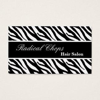 100 White Black Zebra Print Pattern Business Card
