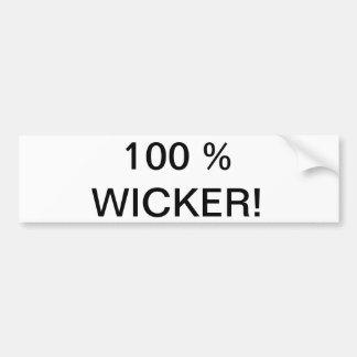 100 % WICKER! BUMPER STICKERS