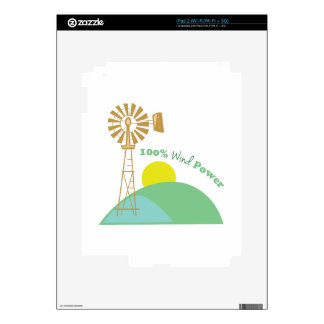 100% Wind Power Decal For iPad 2