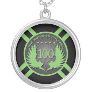 $100 Wings Poker Chip Necklace