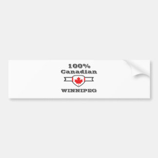 100% Winnipeg Bumper Sticker