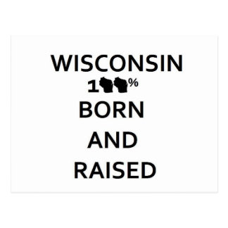 100% Wisconsin Born and Raised Postcards