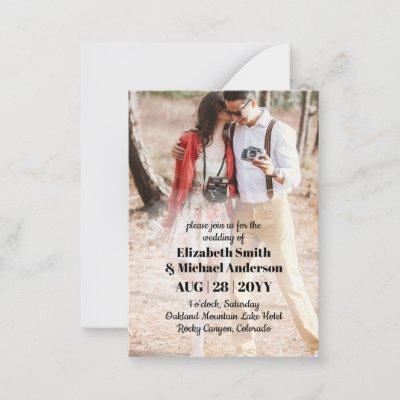 100 x Budget PHOTO Wedding Invitations with ENVL.