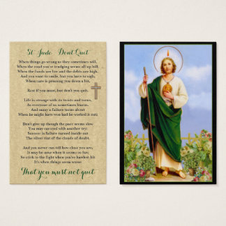 100 x St Jude Don't Quit Prayer Cards Pocket Sized