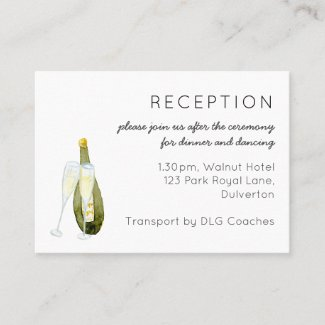100 x Wedding Enclosure Details Itinerary Cards