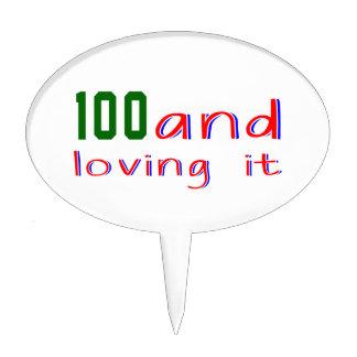 100 y amor de lo decoración para tarta