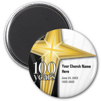 100 Year Church Anniversary Refrigerator Magnets