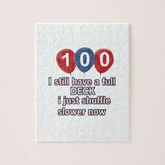 100 year funny birthday designs jigsaw puzzle