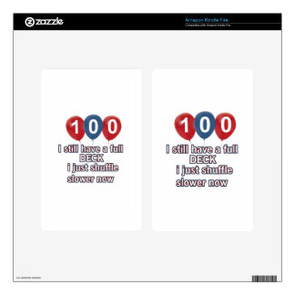100 year funny birthday designs skins for kindle fire