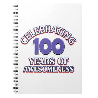 100 year gift designs spiral notebook
