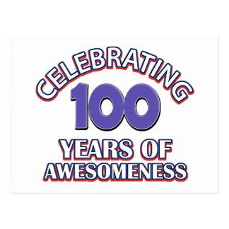 100 year gift designs postcard