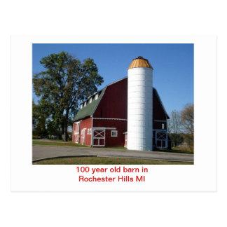 100 year old barn in Roichester Hills MI Postcard