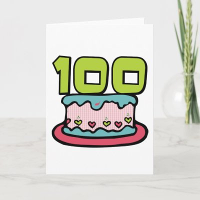 birthday cake 100