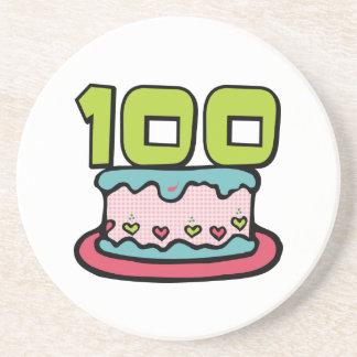 100 Year Old Birthday Cake Coaster