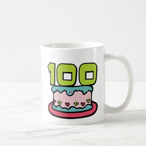 100 Year Old Birthday Cake Mugs