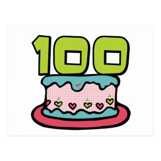 100 Year Old Birthday Cake Postcard