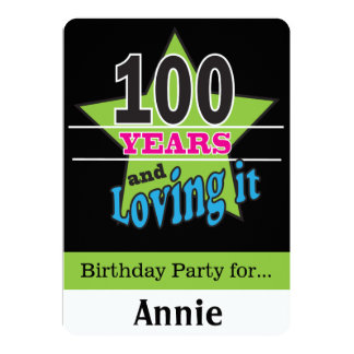 100 Year Old Birthday Card