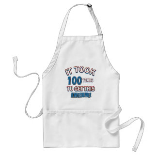 100 year old birthday designs aprons