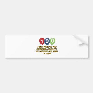100 year old birthday designs bumper sticker