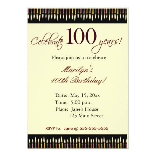 100Th Birthday Party Invitations with luxury invitations design