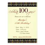 100 Year old Birthday party invitation