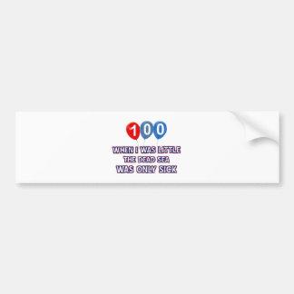 100 year old dead sea birthday designs bumper sticker