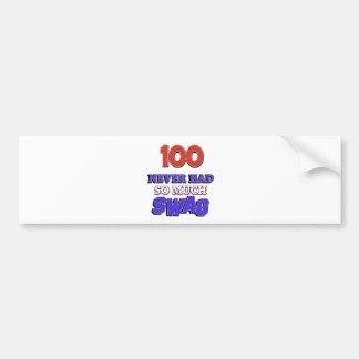 100 year old designs bumper sticker