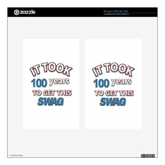 100 year old designs decals for kindle fire