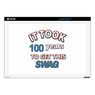 100 year old designs decals for laptops