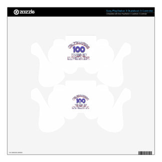 100 year old designs PS3 controller decals