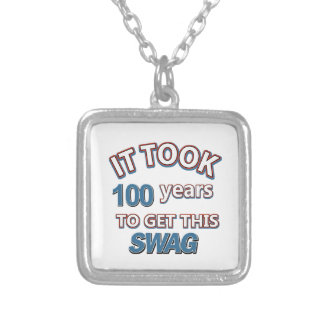 100 year old designs square pendant necklace