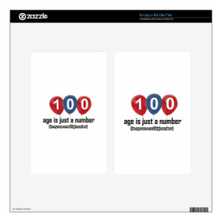 100 year old nothing but a number designs decal for kindle fire