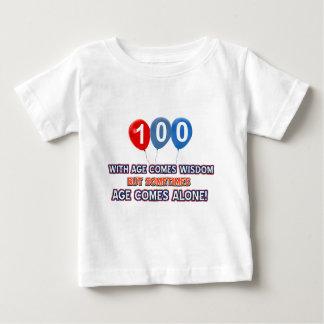 100 year old wisdom birthday designs baby T-Shirt