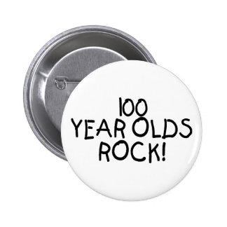 100 Year Olds Rock 2 Inch Round Button