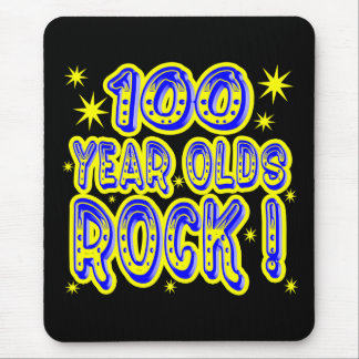 100 Year Olds Rock! (Blue) Mousepad