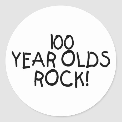 100 Year Olds Rock Classic Round Sticker