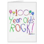 100 Year Olds Rock! Greeting Card