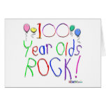 100 Year Olds Rock ! Greeting Cards