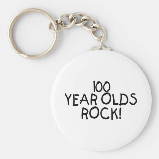 100 Year Olds Rock Key Chains