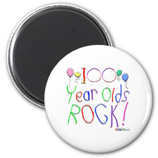 100 Year Olds Rock! Magnet