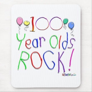 100 Year Olds Rock! Mousepad