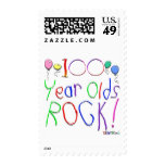 100 Year Olds Rock ! Postage Stamps