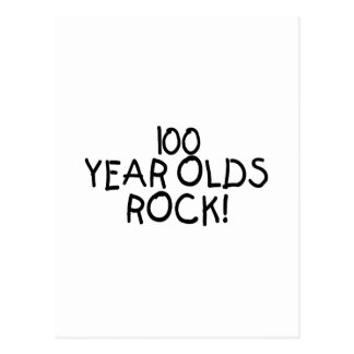 100 Year Olds Rock Postcard
