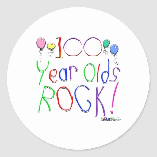 100 Year Olds Rock! Sticker