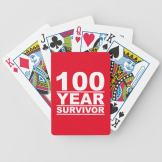 100 year survivor bicycle playing cards